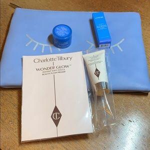 Laneige + Charlotte Tilbury samples